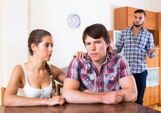 Problems of love triangle Stock Photo