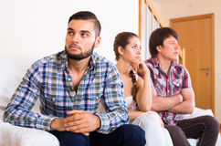 Problems of love triangle Stock Photography