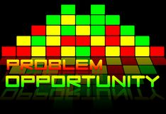 Problems and opportunities. Background graphic with colors yellow and red Royalty Free Illustration