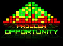 Problems and opportunities. Background graphic with colors yellow and red Stock Illustration