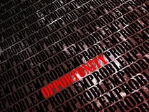 Problems and opportunities. Graphic background for the concept of problems and opportunities Stock Image