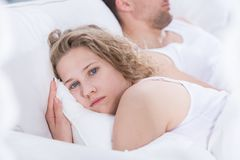 Problems in the relationship Stock Image