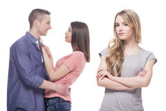 Problems in relationships Stock Image