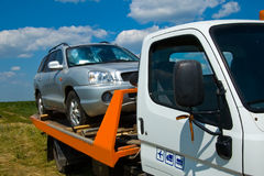 Problems on the road. Wherever the car broke down - help will come in time Stock Photos