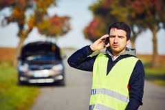 Problems on the road Royalty Free Stock Photography