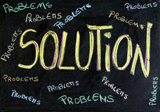 Problems and solution Stock Photos