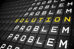 Problems and solution on black mechanical board Royalty Free Stock Images