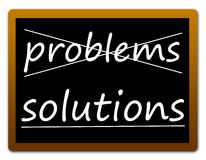 Problems and solutions. Finding solutions for your problems Stock Image