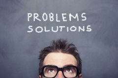 Problems And Solutions stock photography
