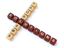 Problems and Solutions crosswords Royalty Free Stock Photos