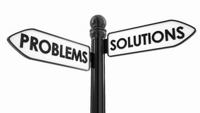 Problems Or Solutions Directions Stock Photo