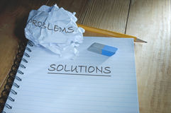 Problems and solutions Stock Photos