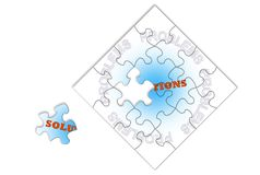 Problems Solutions Jigsaw Stock Photography