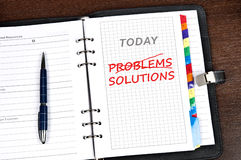 Problems and solutions message Royalty Free Stock Photos