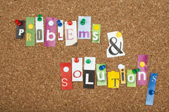PROBLEMS SOLUTIONS Stock Images