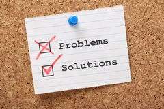 Problems and Solutions Royalty Free Stock Image