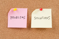 Problems and solutions words Royalty Free Stock Photo