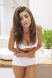Problems with stomachache Royalty Free Stock Image