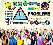 Problems Trouble Difficulty Failure Challenge Concept.  Stock Images