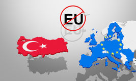 Problems between Turkey and EU Stock Photos