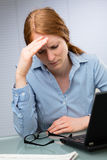 Problems at Work - Businesswoman Stock Photo
