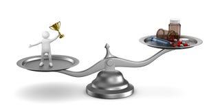 Problemtjack i sportar Isolerad illustration 3d Royaltyfri Bild