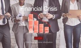 Problemu ryzyka deflaci depresji bankructwa pojęcie Zdjęcia Royalty Free