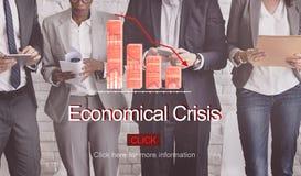 Problemu ryzyka deflaci depresji bankructwa pojęcie Zdjęcie Stock
