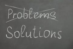 Problemy i rozwiązania Obrazy Stock