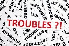 Problèmes ? ! Images libres de droits