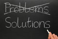 Problèmes et solutions. Images libres de droits