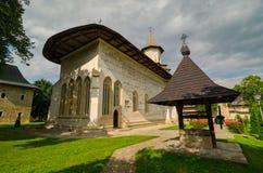 Probota kloster av St Nicholas i Probota, Rumänien Royaltyfria Foton