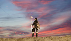 Procès d'armure avec l'épée Photo libre de droits