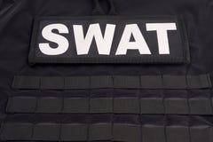 Procès d'armure de SWAT image stock