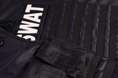 Procès d'armure de SWAT Images libres de droits