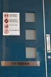 Procès dans la cour fermée Image stock