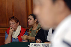 Procès de drogue de l'Indonésie Grande-Bretagne Image stock