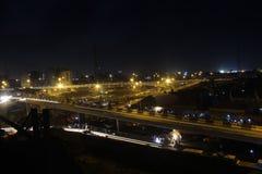 Procès de lumière de ville d'Obalande Lagos Photo stock