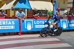 Procès de temps de TTT à l'échange de vélo de Vuelta España Orica de La image libre de droits