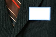 Procès et étiquette de nom Photos stock
