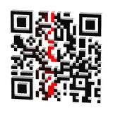 Procédé de balayage de code de QR d'isolement Image libre de droits