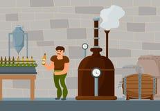 Procédé de brassage de bière Images stock