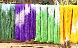 procédé de coton Photos stock