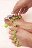 Procédé de Pedicure Image stock
