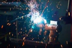 Procédé de soudure pour le métal Photographie stock libre de droits