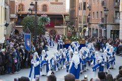 Proccesion em ruas de Teruel Imagens de Stock