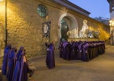 Proccesion em ruas de Teruel Imagem de Stock