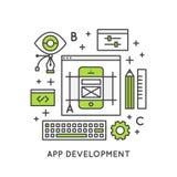 Procédé de développement d'applications Image libre de droits