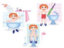 Procédures d'hygiène Image libre de droits