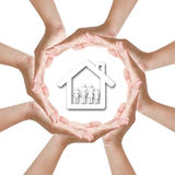 Procect home family Stock Image